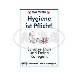 """Plakat,  DIN A4 - """"""""Hygiene ist Pflicht"""""""""""