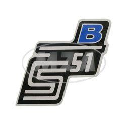 """Klebefolie Seitendeckel """"B"""", blau, S51"""