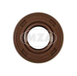 Wellendichtring NJK 14x28x7 - FPM - Viton - braun - mit Staublippe