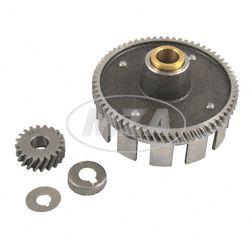 Kupplungszahnrad / Antriebsritzel SET 65/20 Zähne - inkl. Sicherungsscheibe + Sicherungskappe - Simson Motor M500