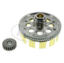 SET Kupplungszahnrad Sport / Antriebsritzel - 72/22 Zähne, geradeverzahnt, Kupplungskorb erleichtert