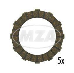 Kupplungsscheiben A12 / Reibbelag - ALU 2,5mm dick (5-er Pack)
