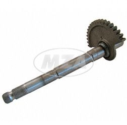 Kick start shaft with toothed segment for all 3 gear engines - SR 4-2, KR51/1, S50
