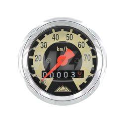 Tachometer - Ø48mm - Ziffernblatt schwarz/ hellelfenbein - Schwalbe KR51, SR4-2, SR4-3, SR4-4 (70km/h-Ausführung)