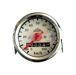 Tachometer - Ø48mm - weißes Ziffernblatt - Schwalbe KR51, SR4-2, SR4-3, SR4-4 (100km/h-Ausführung)