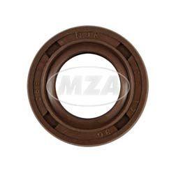Wellendichtring NJK 17x30x7 - FPM - Viton - braun - mit Staublippe