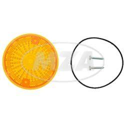 Set Lichtaustritt hinten, Blinkerkappe Ø80 mm, orange, inkl. Gummidichtring + Schrauben