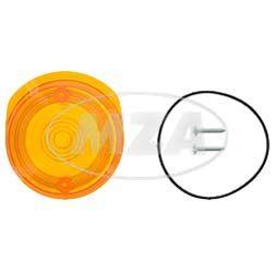Set Lichtaustritt vorne, Blinkerkappe Ø80 mm, orange, inkl. Gummidichtring + Schrauben