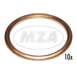 VPE 10L  Fülldichtringe Ø28x33x2,5 mm, Kupfer, Form C
