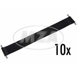 VPE 10L Gummi-Batteriespannband 235x30x1,5 - für Mokick + Motorrad