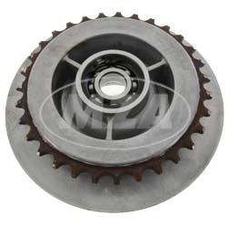 Mitnehmer Z= 31 - mit SKF-Markenlager 6203 C3 2Z und Sicherungsring -  Hinterradantrieb - Roller SR50, SR80