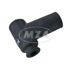 Rennkerzenstecker NGK SPORT (5 K-Ohm), schwarzer Gummistecker, wasserdicht, vibrationsresistent, 90° abgewinkelt