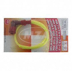 Rennkerzenstecker SET NGK SPORT mit Kabel ( gelbes hochleistungs Silikonkabel - 50 cm, roter wassergeschützter Phenolharz Stecker, keramisches Widerstandselement 5 K-Ohm)