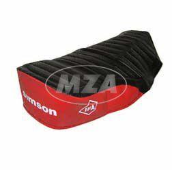 Sitzbezug, Simson schwarz/rot, strukturiert, wasserdicht S51E