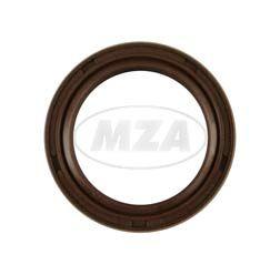 Szimering, tengelytömítő gyűrű NJK 28x38x7 - FPM - Viton barna - porvédő ajakkal