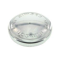 Filler cap - Ø40, Model FE - polished Aluminium - embossing: 1:50 MIX