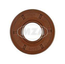Szimering, tengelytömítő gyűrű NJK 17x40x10 - FPM - Viton barna - porvédő ajakkal