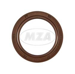 Radial shaft seal D 35x47x7 TGL 16-454-St FPM Viton, brown with dust lip, for example for ETZ250