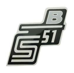 """Klebefolie Seitendeckel """"B"""", silber, S51"""