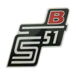 """Klebefolie Seitendeckel """"B"""", rot, S51"""