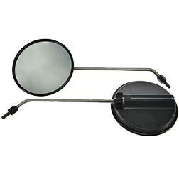 Paar Rückblickspiegel - 2 Stück- ø 120 mm, Gewinde M8, Spiegelarm Edelstahl, rechts u. links verwendbar