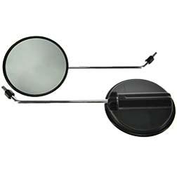 Paar Rückblickspiegel - 2 Stück- ø 120 mm - Gewinde M8, Spiegelarm Chrom, rechts u. links verwendbar
