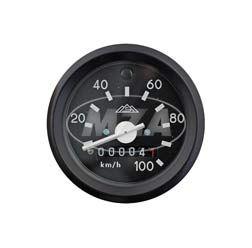 Tachometer mit Beleuchtung und Blinkkontrollleuchte - ø 60 mm - 100 km/h - (neue Produktion / ORIGINAL MMB) - S51, S53