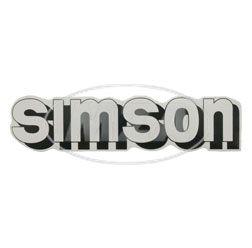 Klebefolie Simson-Tank, weiß/schwarz
