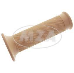 Gummigriff (Muffe) f. Gasdrehgriff - ohne Loch zur Blinkerbefestigung - beige - innen Ø 26 mm - Länge 120 mm - Ausführung mit Rändelprofil - Vogelserie
