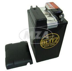 Batterie 6V 12Ah AWO mit Deckel (Füllmenge 150ml pro Kammer, Bleiakku) (01211)