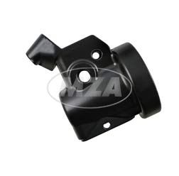 Gehäuse f. Wickelgasdrehgriff - mit Bohrung f. Bremslichtschalter - schwarz pulverbeschichtet - ohne Kleinteile