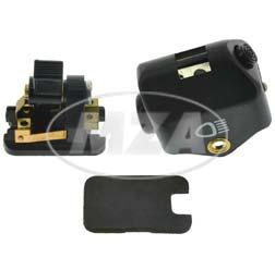 Lenkerabblendschalter LAS mit Hupe + Lichthupe - Plastikkappe schwarz mit Ausschnitt - 8626.13