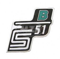 """Klebefolie Seitendeckel """"B"""", grün, S51"""