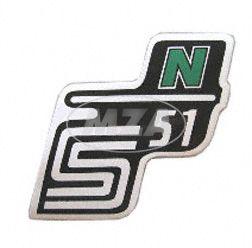 """Klebefolie Seitendeckel """"N"""", grün, S51"""