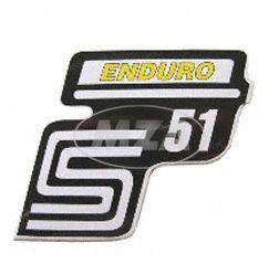 """Klebefolie Seitendeckel """"Enduro"""", gelb, S51"""