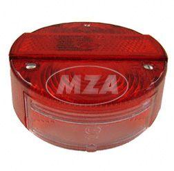 Rücklichtkappe f. Bremsschlußkennzeichenleuchte  ø 120 mm - rot - Lichtaustritt 8522.21-200 - mit 3 Zylinderblechschrauben