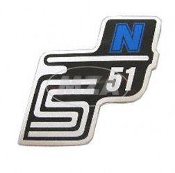 """Klebefolie Seitendeckel """"N"""", blau, S51"""
