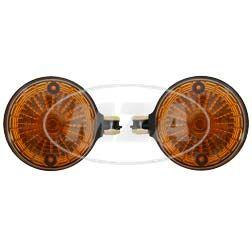 Paar Blinkleuchten, hintere - rund - 8580.23/1 - oranges Glas - Blinkeraufnahme 10 mm