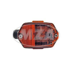 Blinkleuchte BL80 - eckig , vorn / hinten - Lichtaustritt orange, Rohrdurchmesser - 15 mm - Simson, passend f. MZ