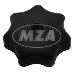 Sterngriffmutter M6 - schwarz - f. Motorabdeckung u. Haube - ohne Druckscheibe (MZA 10447)