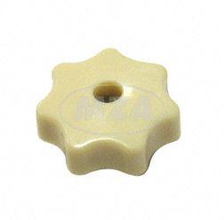Sterngriffmutter M6 - elfenbein (beige) - f. Motorabdeckung u. Haube