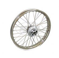 Speichenrad 1,6x17 Zoll für Scheibenbremse (Alu-Nabe, Edelstahlfelge, Edelstahlspeichen)