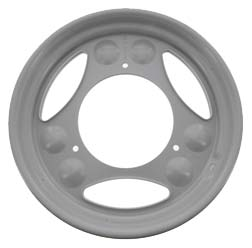 Disk wheel 2.10 x 12 - white aluminium powder coated, RAL 9006 - SR50. SR80, SRA50