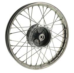 """Spokes wheel 1,6x16"""" stainless steel (wide version) (wheel hub: top cast quality, grey cast iron, turned off flanks, Simson"""