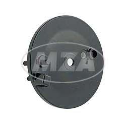 Bremsschild hinten, schwarz PPB - mit Loch f. Bremskontakt - KR51/2, S50, S51, S70