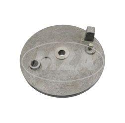 Bremsschild hinten - natur - ohne Loch f. Bremskontakt - mit Bolzen - Simson S51, S70, S53, S83