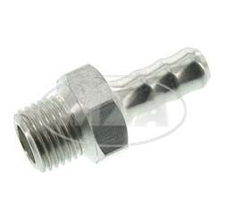 Inlet nozzle Aluminium Ø6,5mm for fuel tap