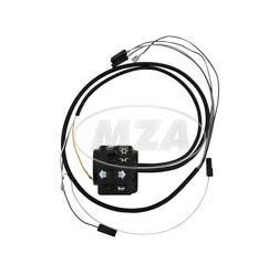 Schalterkombination 8626.19/20 kompl. m. Kabel - 12Volt - ohne Lichthupe - Flachlenker