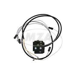 Schalterkombination 8626.19/21 kompl. m. Kabel - 12Volt - ohne Lichthupe - Enduro-Hochlenker