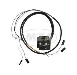 Schalterkombination 8626.19/13 + 19/15 kompl. m. Kabel - 12Volt - ohne Lichthupe - Flachlenker